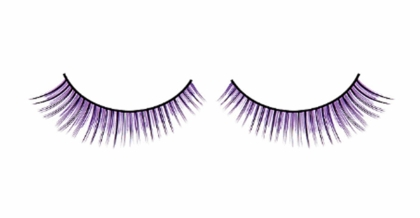 Purple and Black Graduated Lashes