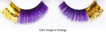 Purple and Gold Fake Lashes