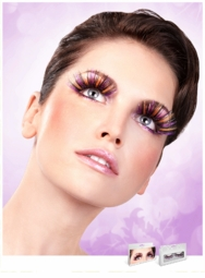 Purple, Black, Yellow and Silver Long Lashes for $7.00