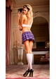 Purple Checker Schoolgirl Lingerie Costume inset 1