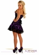 Purple Corset Dress with Lace Overlay