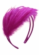Purple Feather Fascinator Headband inset 1