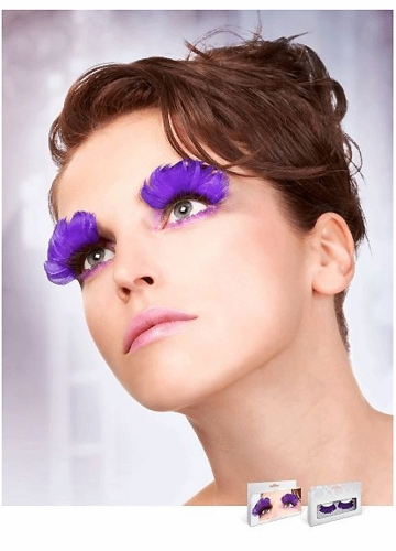 Purple Feather Lashes
