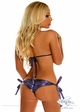 Purple Foil Dot Rhinestone Pucker Back Bikini inset 1