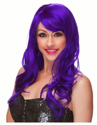 Purple Long Tousled Curl Wig Burlesque