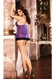 Purple Mesh Slip with Ruffles inset 1