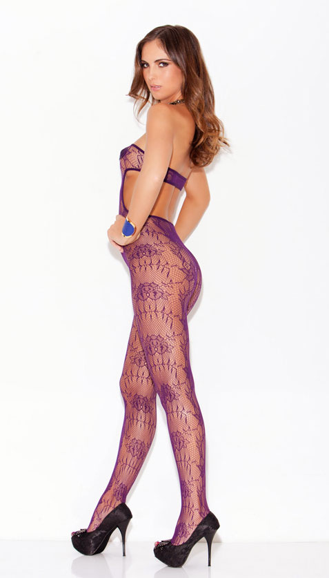 Purple Net Bodystocking