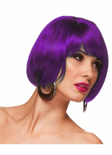 Purple Short Bob Wig Becky