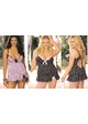 Queen Size Katie Polka Dot Knit Mini Dress with Heart Back inset 1