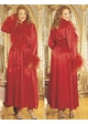 Queen Size Long Robe with Ostrich Feather Trim inset 1
