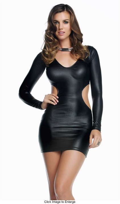 Quinn Black Dress with Wraparound Cutout