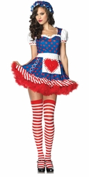 Raggedy Ann Doll Costume with Heart Back