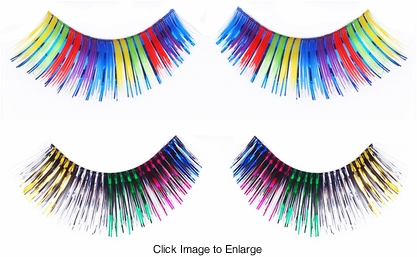 Raibow Metallic Lashes
