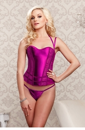 Raspberry Pink Corset with G-string
