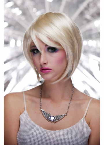 Razor Cut Bob Wig Mystic With Bangs in California Blonde