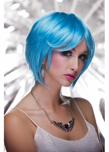 Razor Cut Bob Wig Mystic in Cool Blue