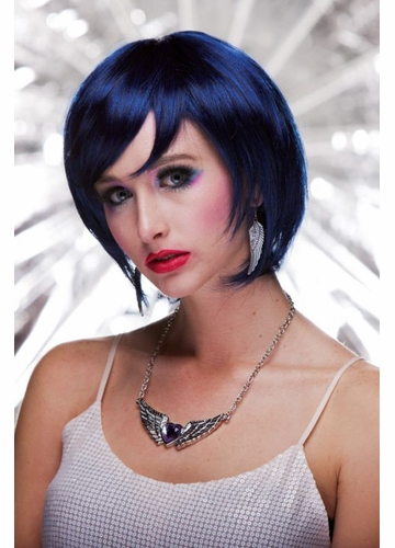 Razor Cut Bob Wig Mystic in Midnight Blue