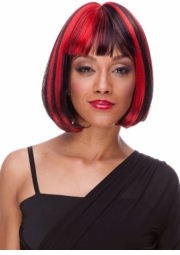Red and Black Deluxe Bob Wig for $19.99