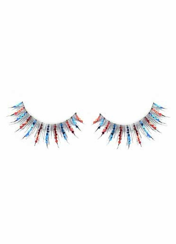 Red and Blue Glitter Lashes