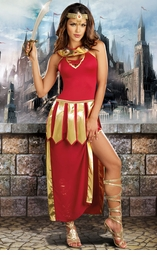 Red and Gold Warrior Princess Costume