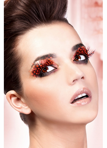 Red Feather False Lashes