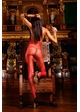 Red Fishnet Bodystocking with Open Back inset 1