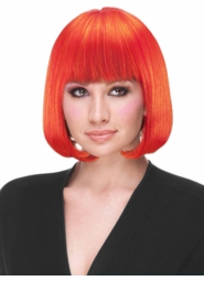 Red Orange Deluxe Bob Wig for $19.99