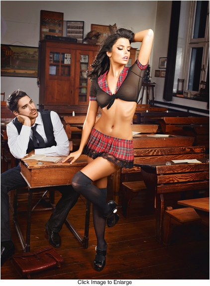 Red Plaid Schoolgirl Costume
