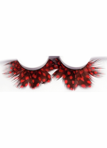 Red Quail Feather Lashes