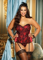 Red Satin Hourglass Corset
