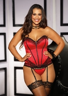 Red Sweetheart Corset with Lace