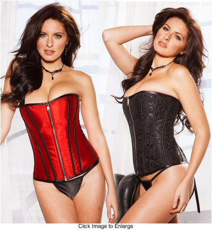 Reversible Two Sided Corset with Zipper Front