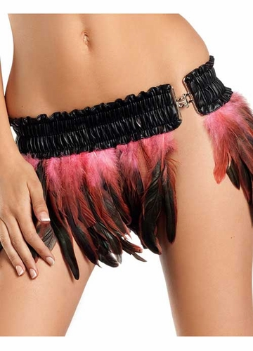 Rio Dancer Feather Skirt in Bubblegum Pink