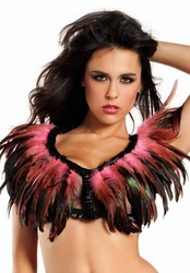Rio Dancer Feather Top in Bubblegum Pink