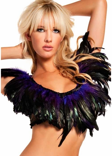 Rio Dancer Feather Top in Purple