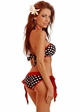Rockabilly Polka Dot Pucker Back Bikini  inset 1