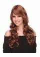 Romantic Curly Wig with Side Swept Bangs by West Bay inset 1