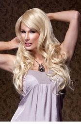 Romantic Curly Wig with Side Swept Bangs by West Bay