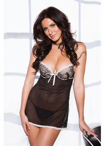 Rosie Lace Mini Dress and G-string