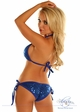 Royal Blue Sequin Pucker Back Bikini inset 1