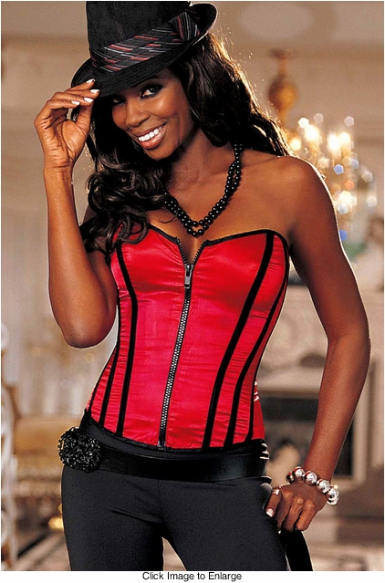 **SALE Red Strapless Corset with G-string
