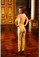 SALE Yellow Fishnet Bodystocking with Open Back inset 1