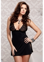Sasha Lace Babydoll with Side Slit