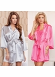 Satin 3/4 Sleeve Robe with Sash (available in 12 colors) inset 2