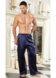 Satin Drawstring Lounge Pants for Men inset 1
