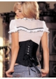 Satin Waist Cincher with Lace-up Back and Skull Design inset 1