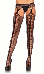 Scale Net Suspender Pantyhose