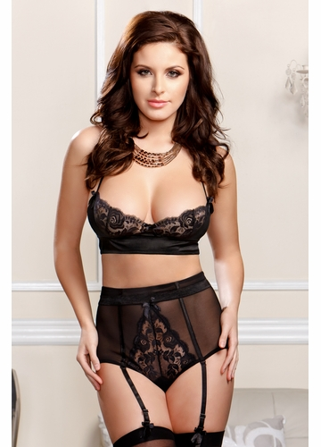 Scalloped Lace Bra and Retro Panty