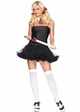School Girl Costume Kit with Ruler Crop, Plaid Tie and Hair Bows inset 1