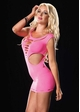 Seamless Neon Cutout Mini Dress inset 1